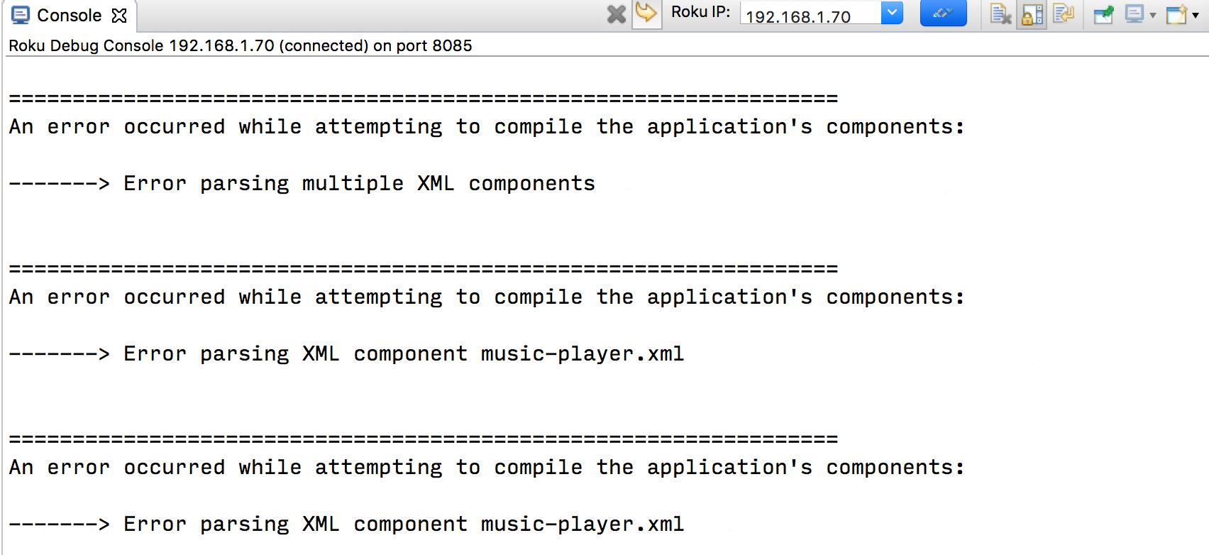 Roku Developer | Documentation | Eclipse IDE support
