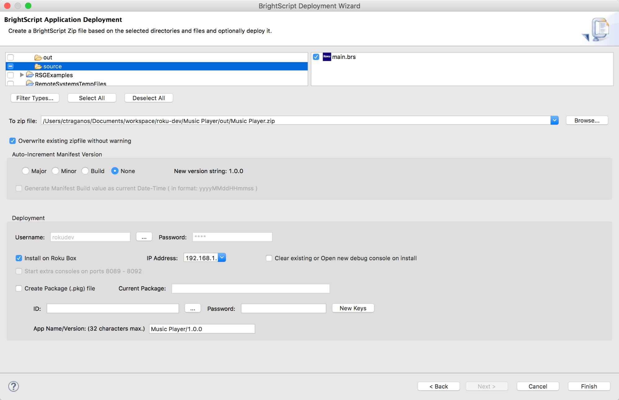 Roku Developer   Documentation   Eclipse IDE support