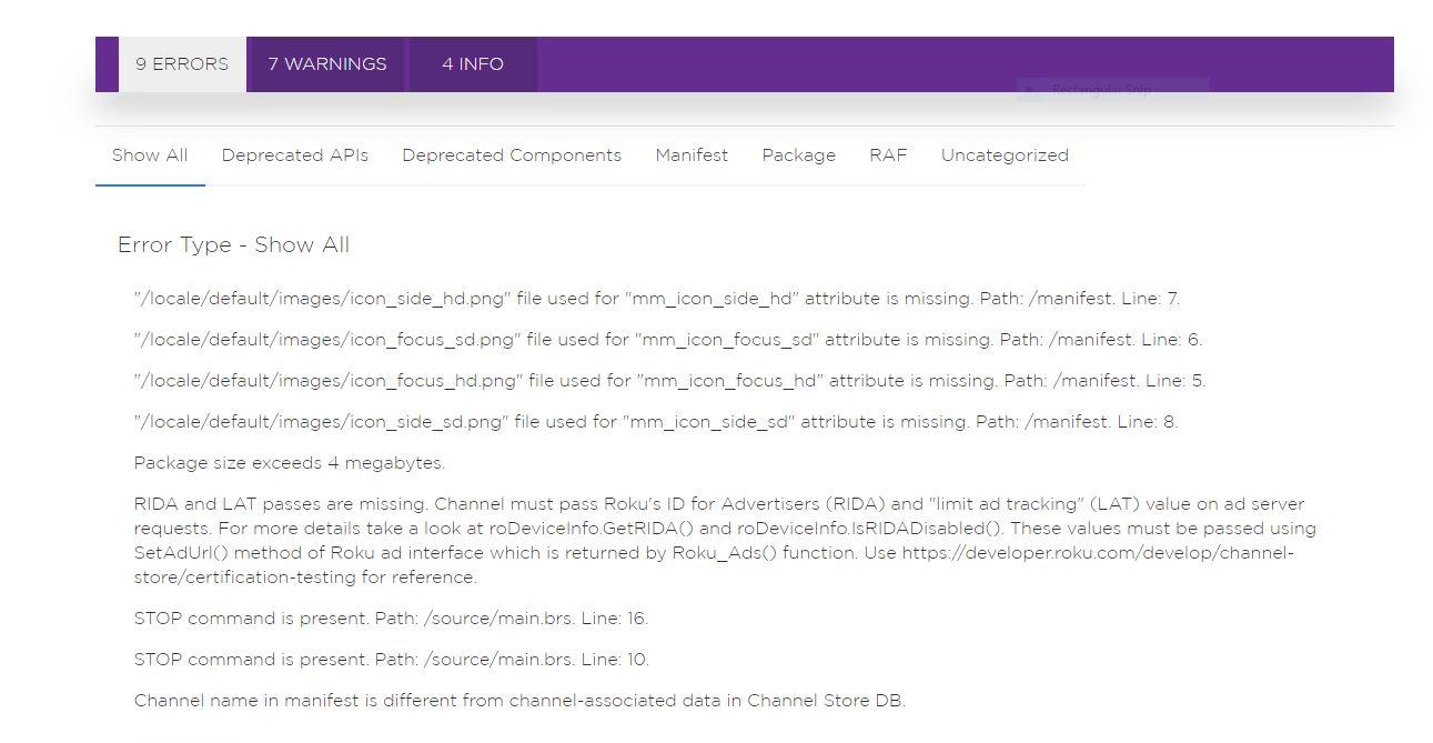 Roku Developer | Documentation | Static analysis tool
