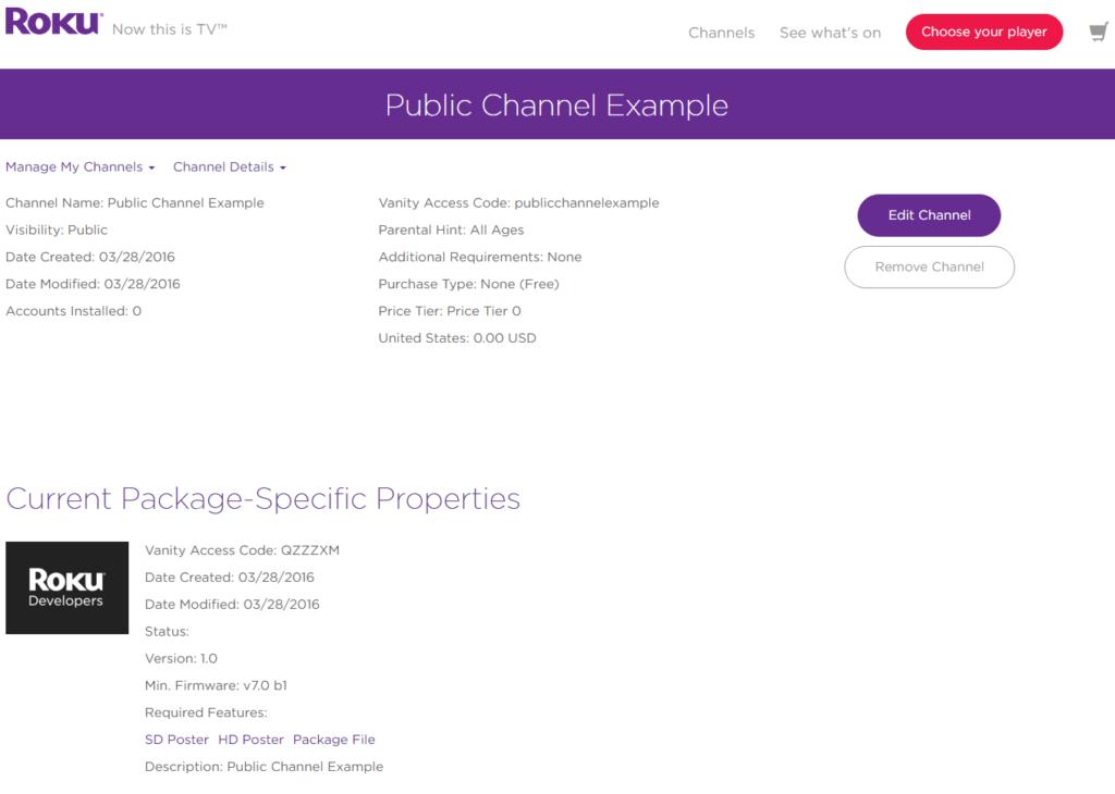 My Channels dashboard screenshot