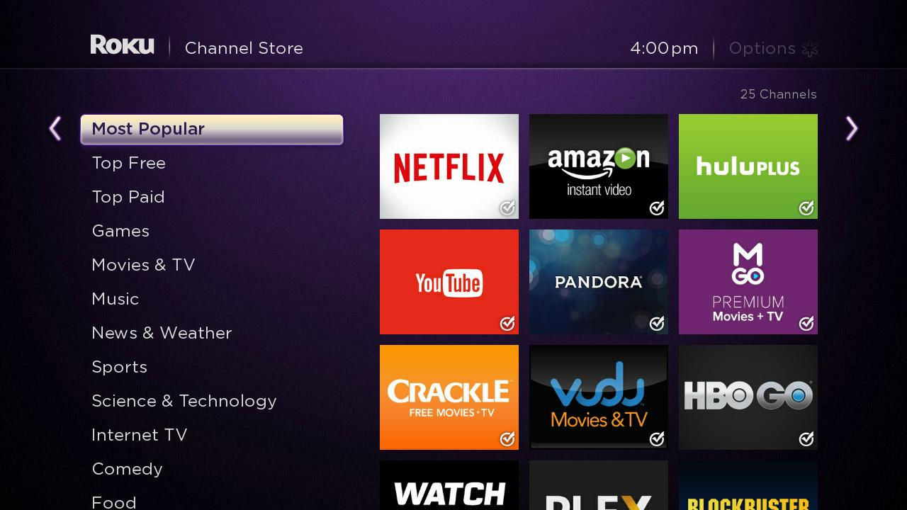 current free trials on roku players and roku tv  as of 12