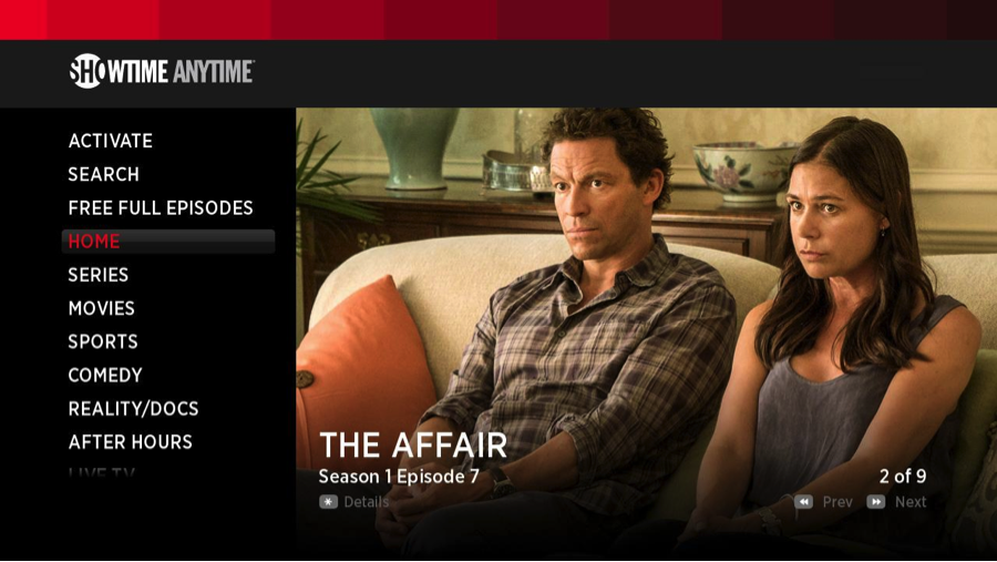 The Affair on Showtime Anytime