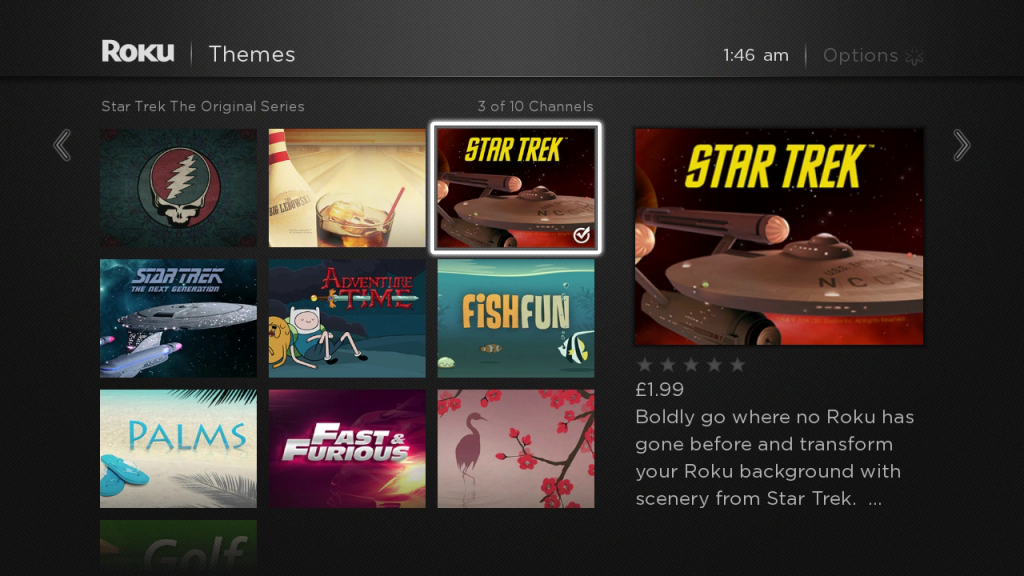 Roku Themes UK
