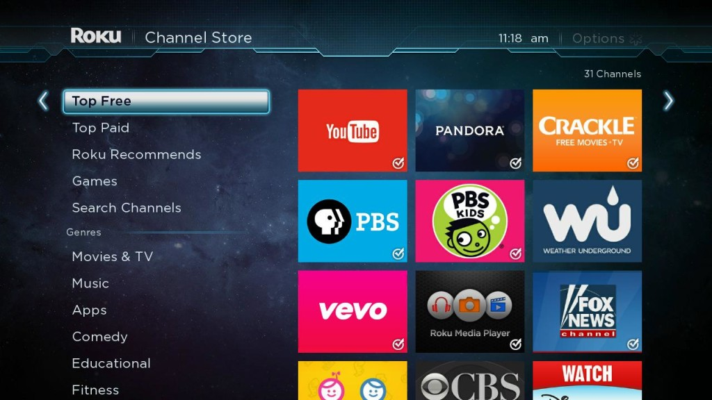 Top Free Roku Channel Store