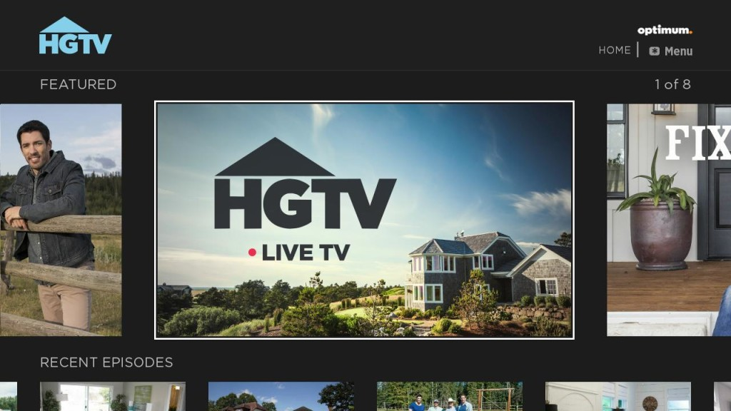 HGTV Home Screen