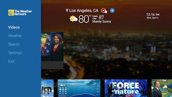 The Weather Network_Roku Home Screen