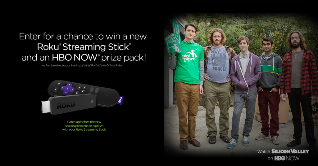 HBO NOW Roku Streaming Stick Sweepstakes