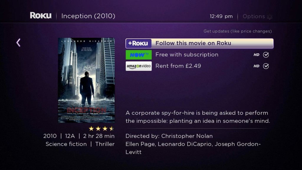Inception - Roku Search UK