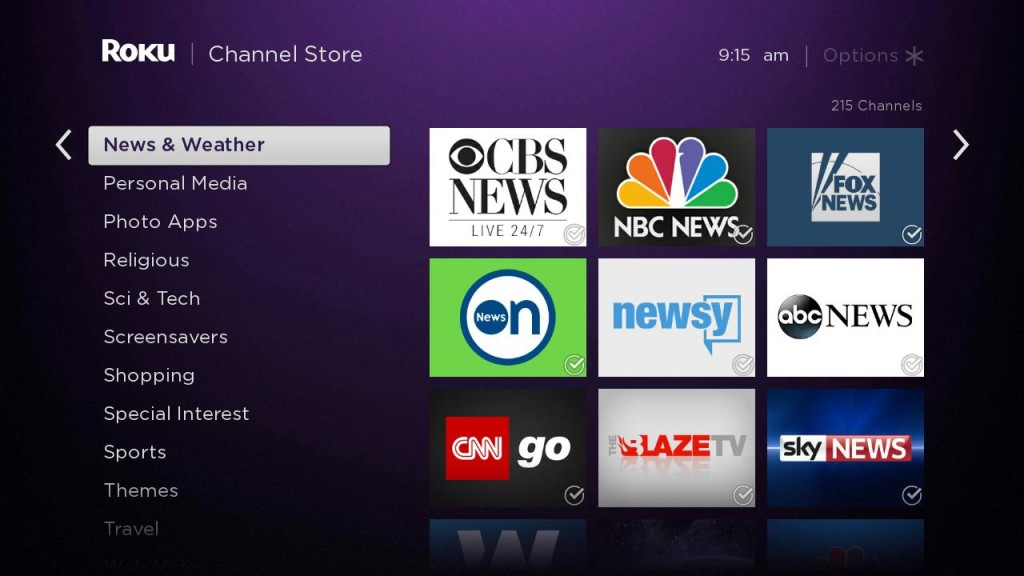 Roku new channels