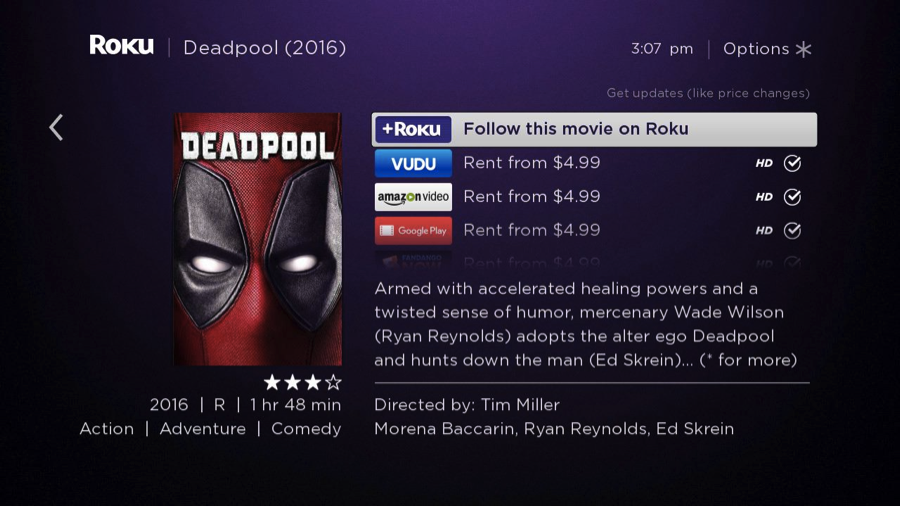 Deadpool Roku Search My Feed