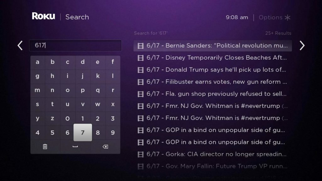 617 Roku Search News
