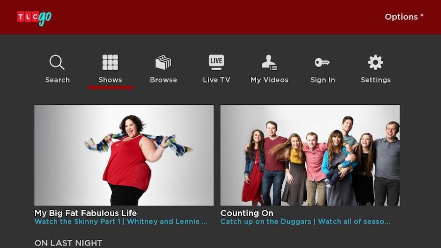 TLC on Roku Home Screen