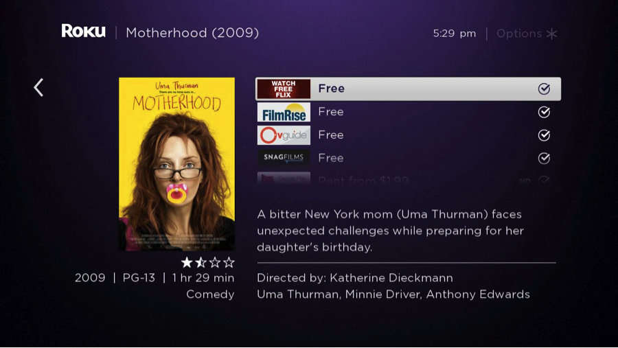 roku-search-uma-thurman-motherhood-with-results