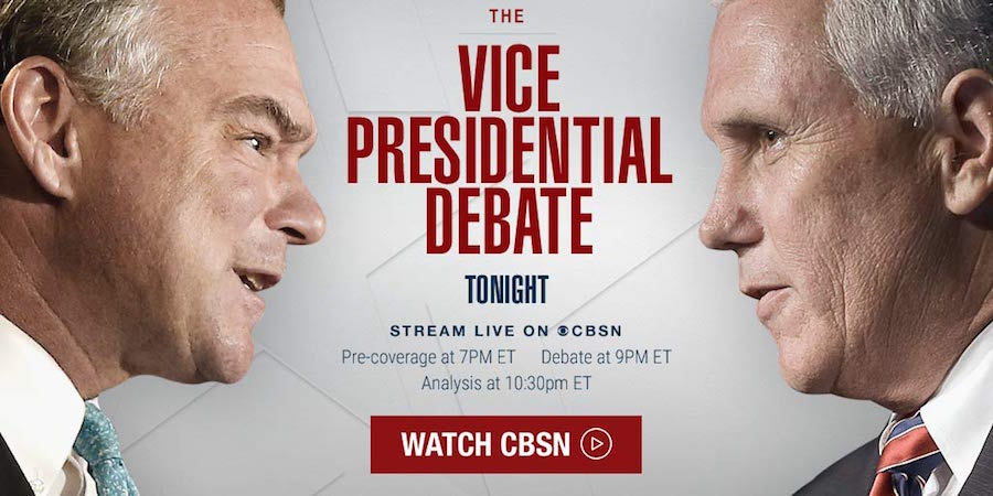 Stream the Vice presidential debate on Roku CBS News Roku