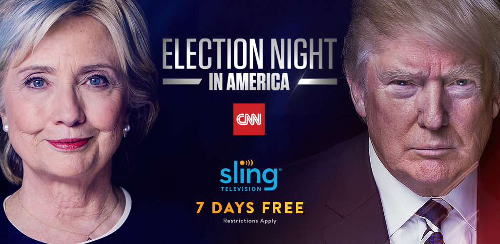 Stream Election Day Coverage Sling CNN Roku
