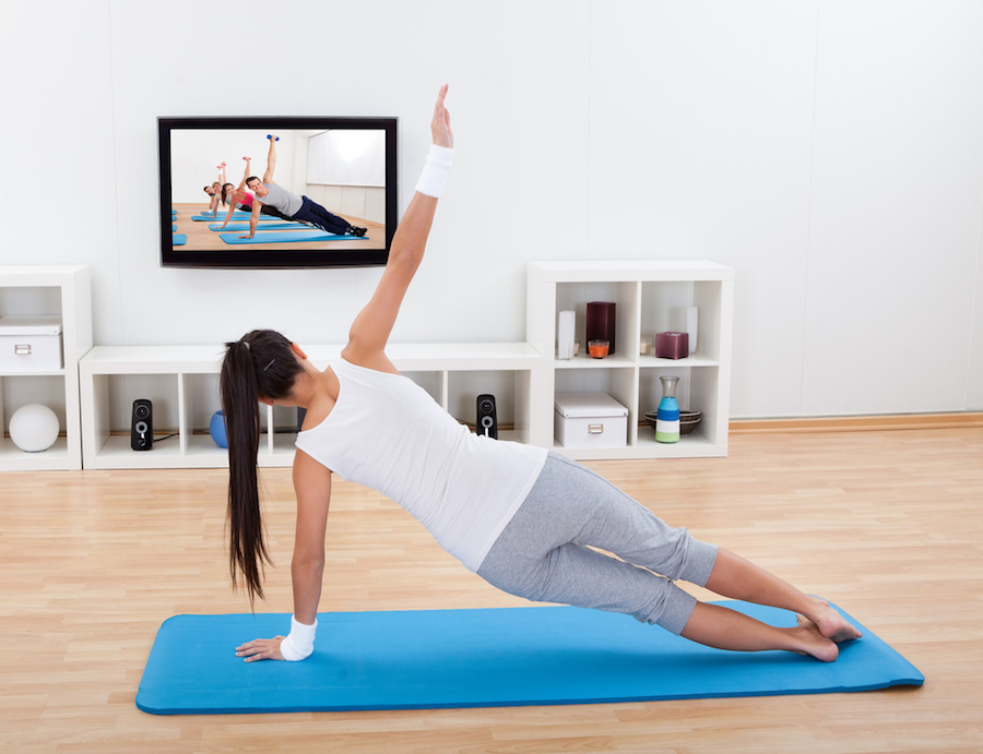 work out at home with roku