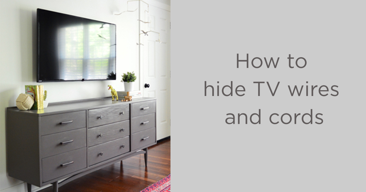 Clear the clutter: how to hide TV wires and cords [guest post from ...