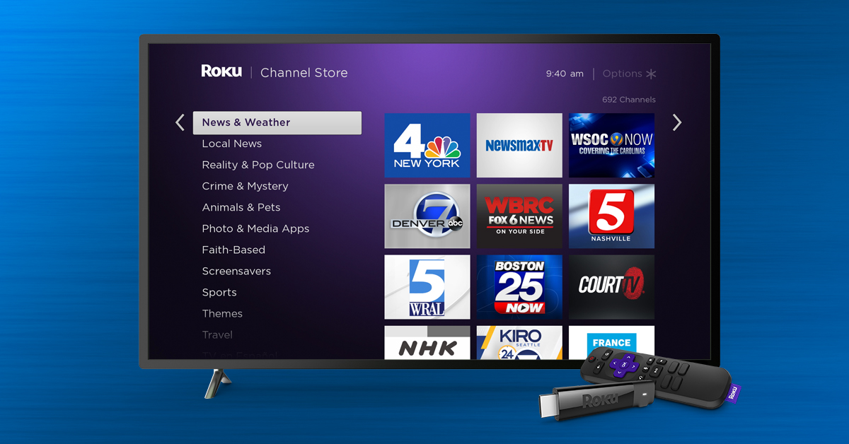 can you watch free live tv on roku