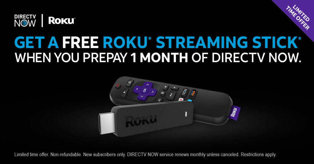 prepay 1 mo of directv now get a free roku streaming stick and watch decembers best tv - Christmas Movies On Directv