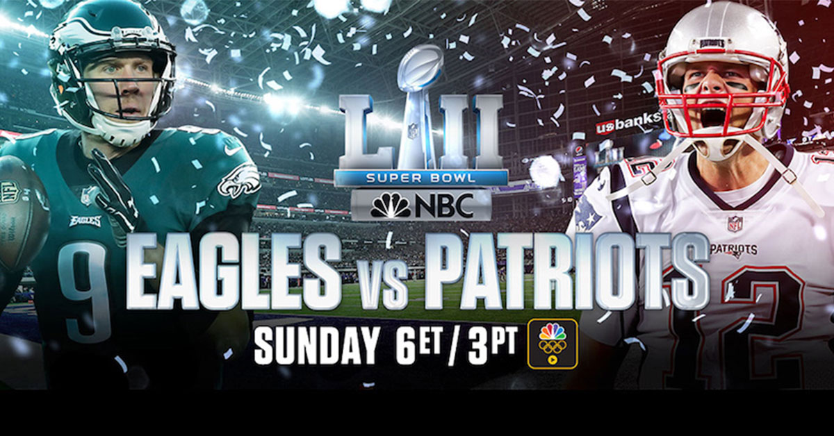 Stream Super Bowl LII FREE on your Roku device on the NBC Sports channel