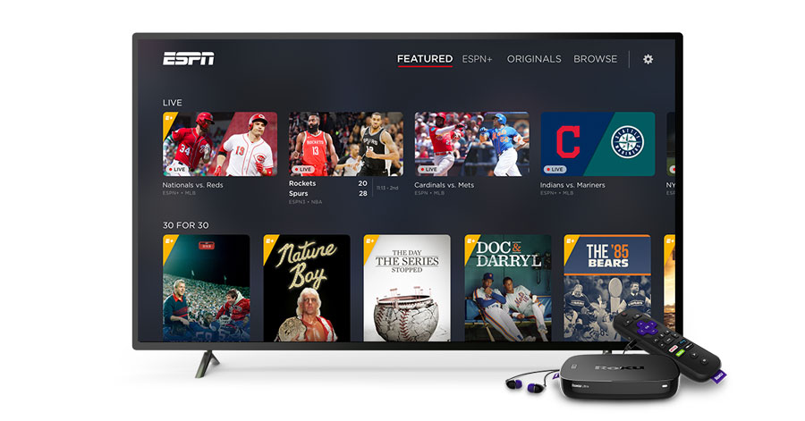 how to watch live sports on roku free