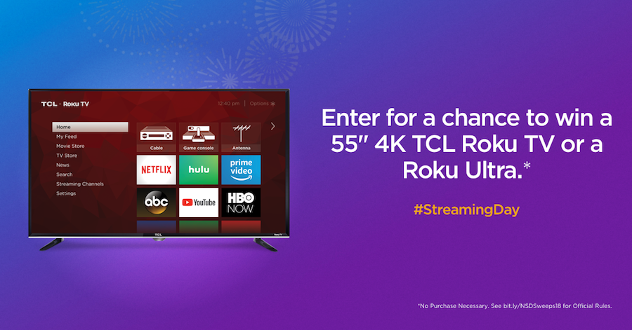 National Streaming Day sweepstakes 2018
