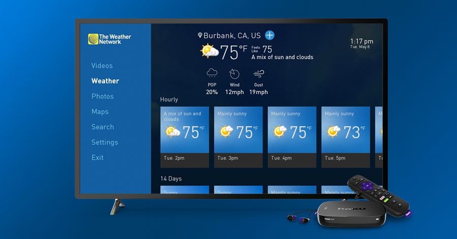 weather network roku