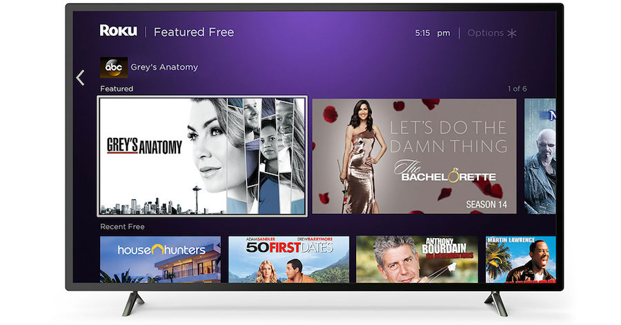 Featured Free on Roku close up