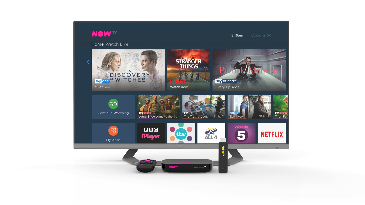 Sky launches Roku Powered NOW TV Smart Box with 4K & Voice Search in the UK