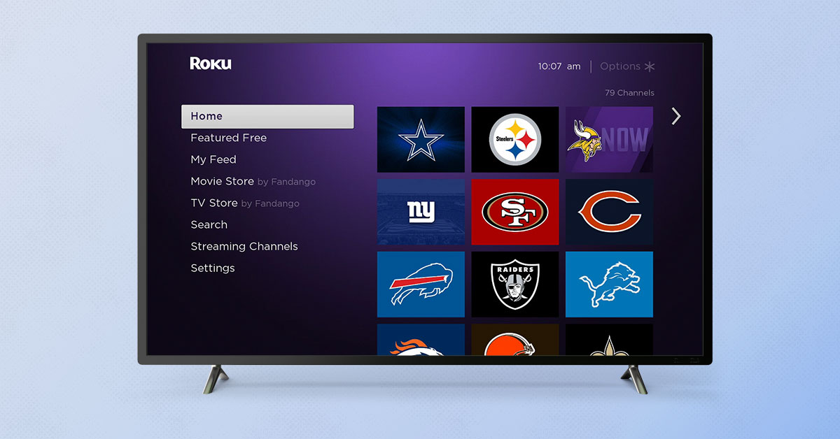 Add Your Favorite Nfl Team S Roku Channel
