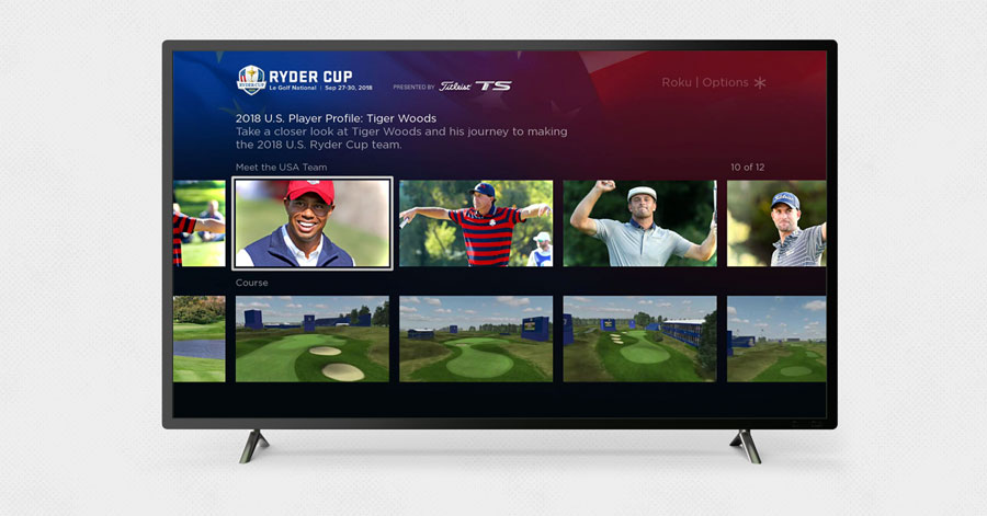 ryder cup on roku