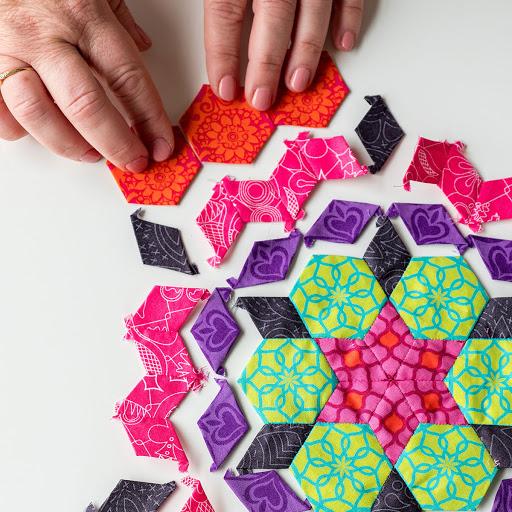 English paper-pieced quilt block_Bluprint