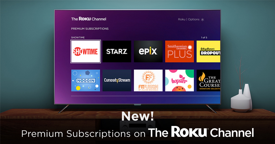 premium subscriptions on roku