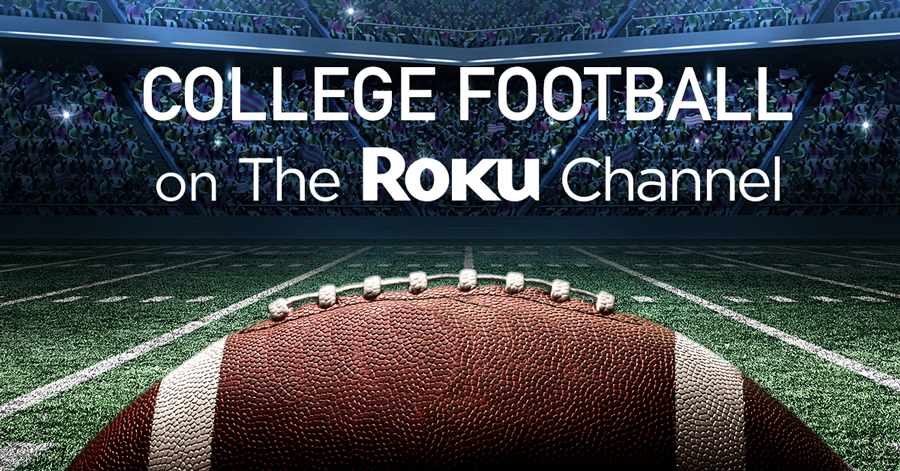 college football on the roku channel