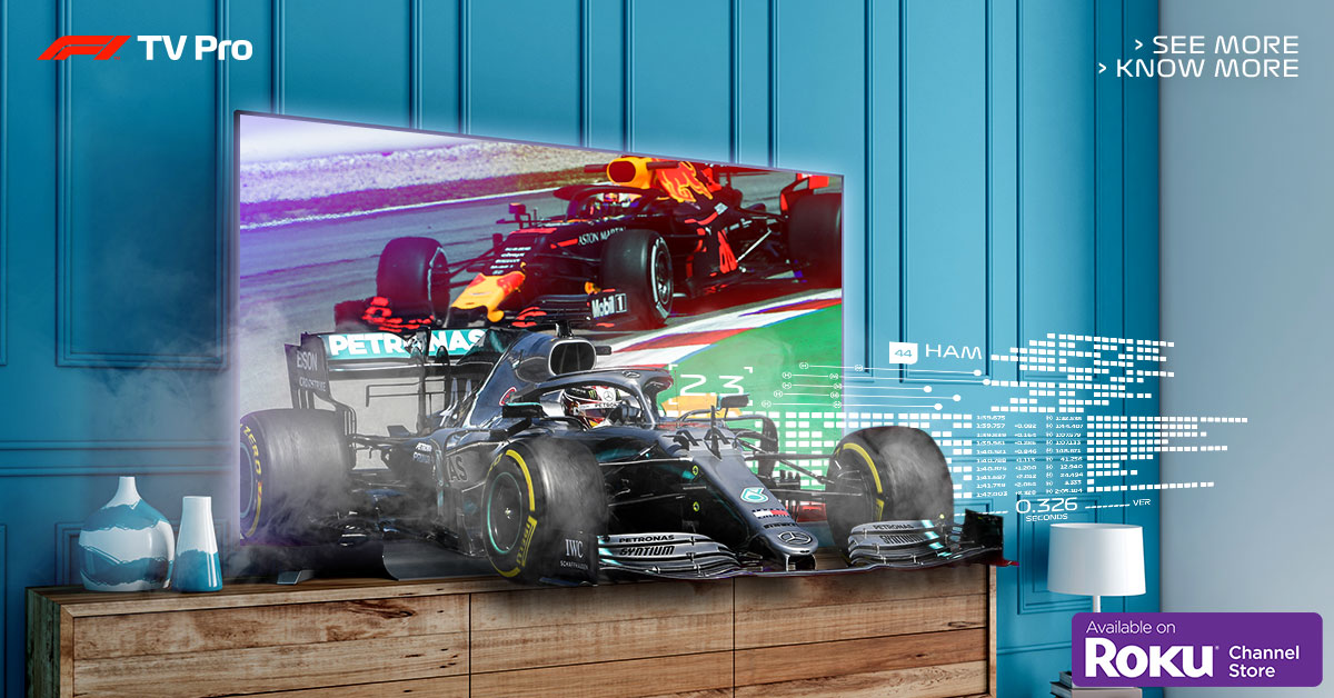 F1 TV is now available on Roku devices