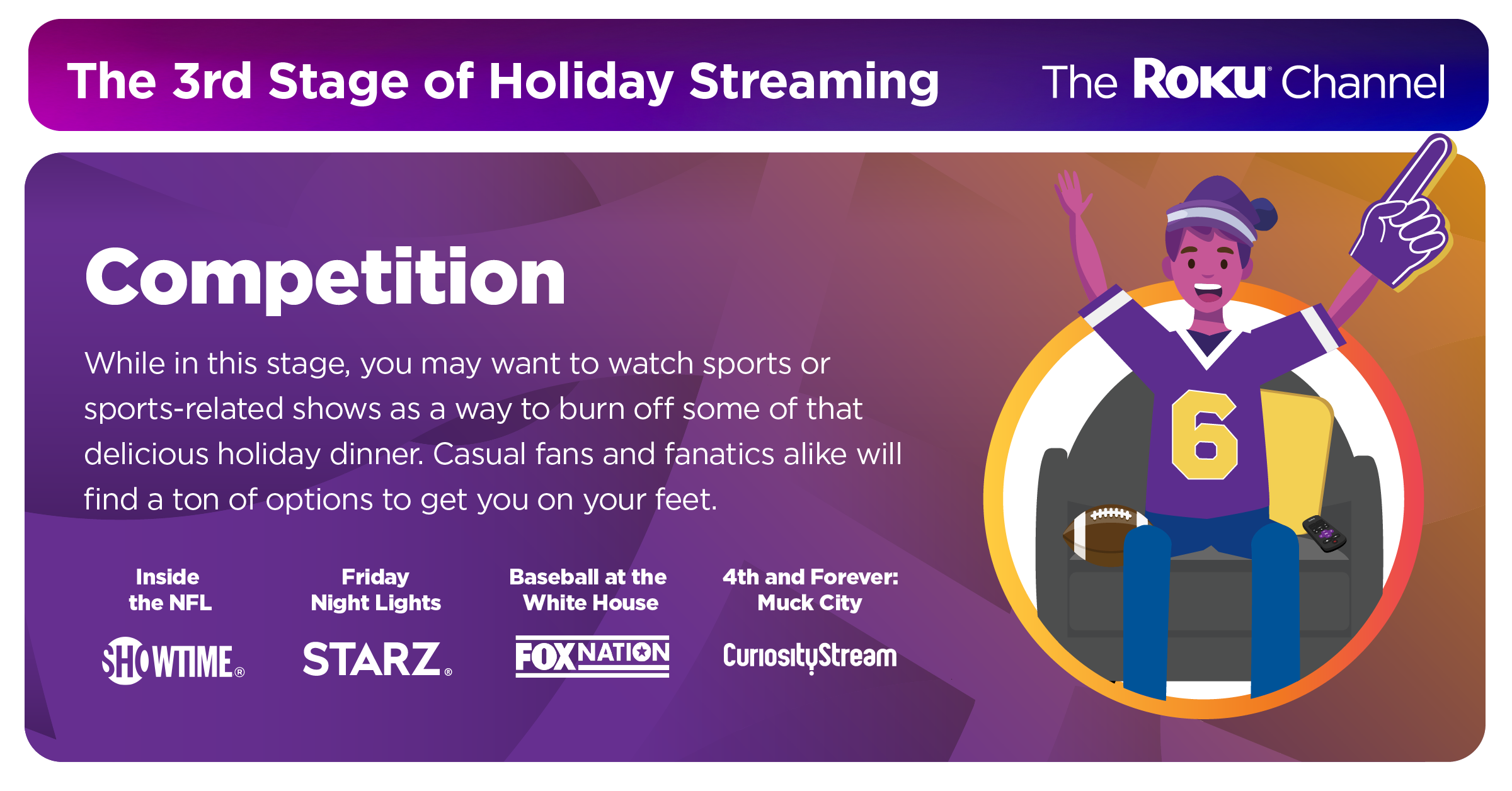 6 stages of holiday streaming roku