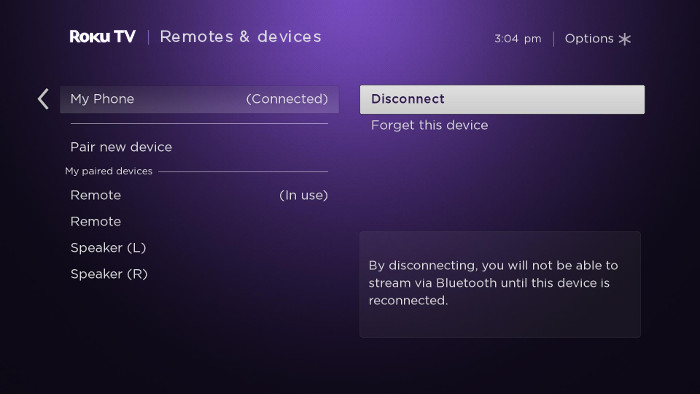 How do I connect a Bluetooth® device to my Roku TV™ and
