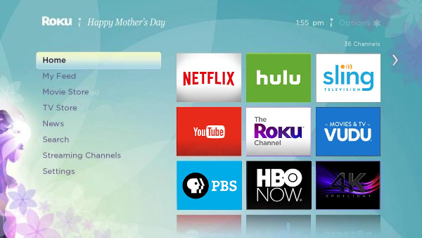 How to adjust the look of the Roku interface by choosing a