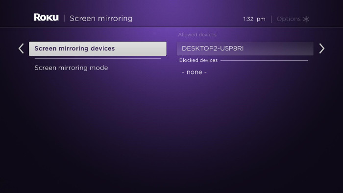 How do I use screen mirroring with my Android™ or Windows® device