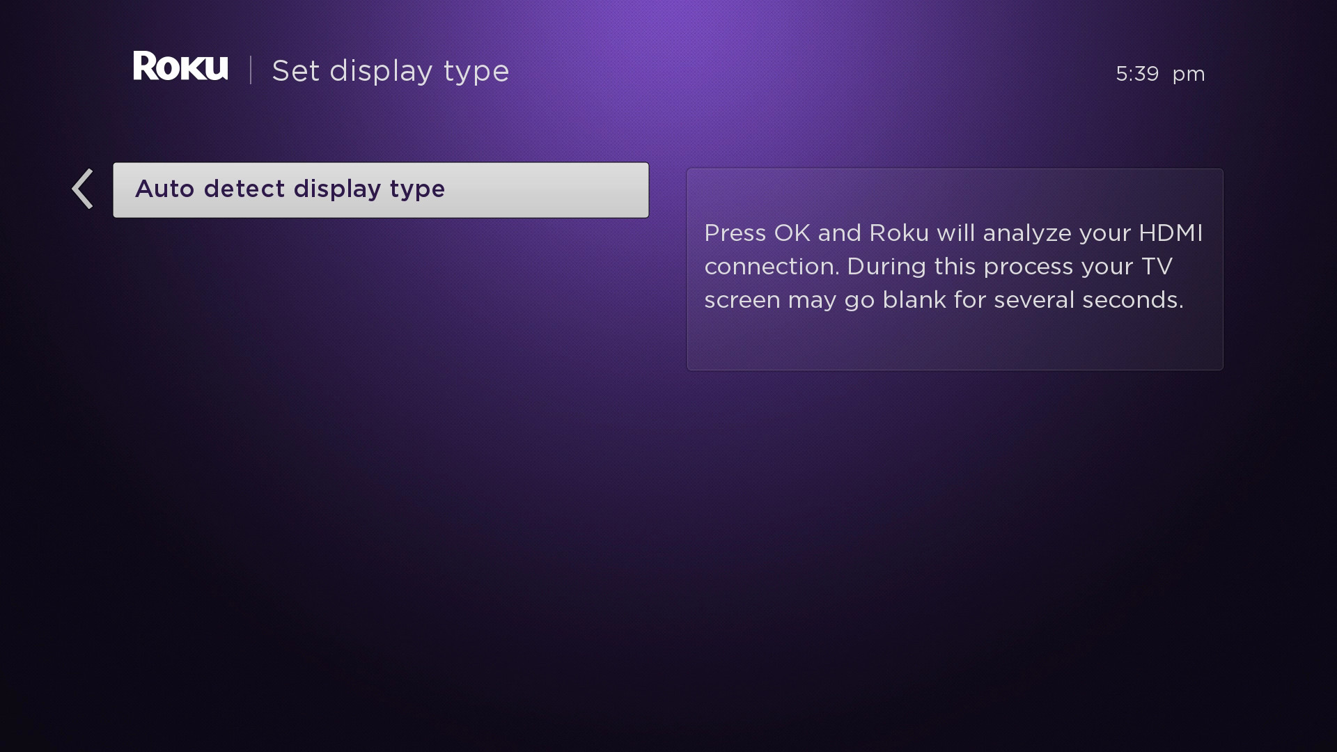 How do I change the display type on my Roku® streaming