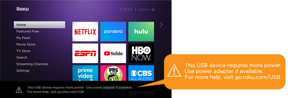 Why does my Roku® streaming device not recognize my external