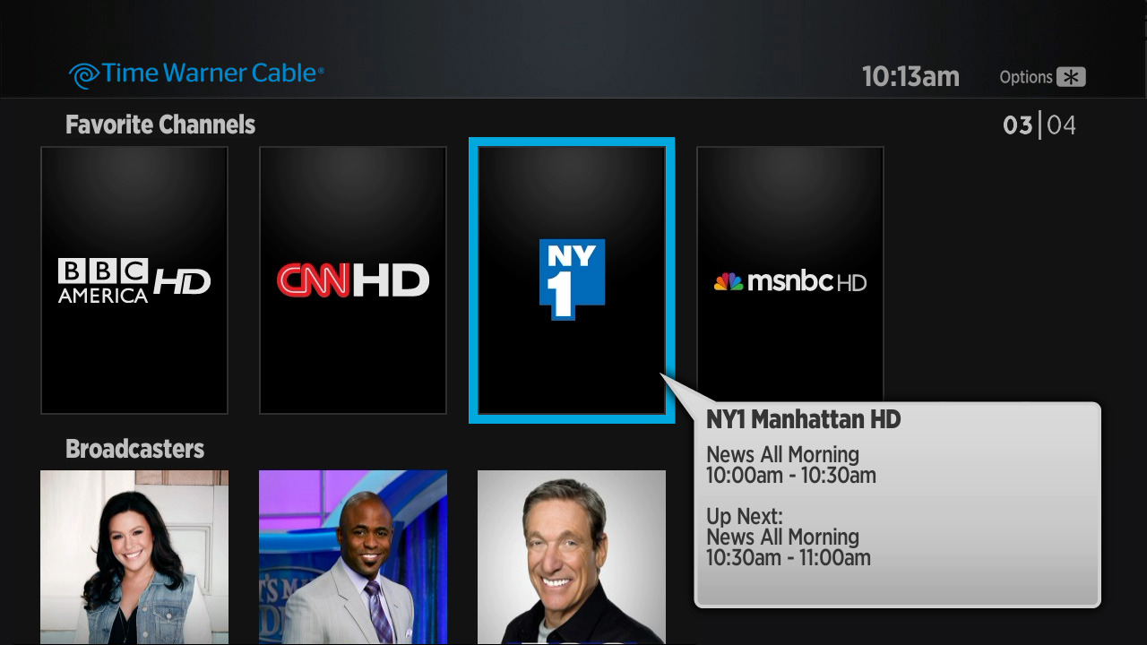 Time Warner Cable Most Watched Roku Channel Store