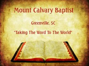 Mount Calvary Baptist