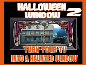Haunted Halloween Window 2