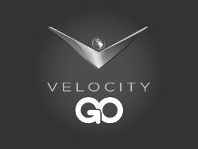 velocity network logo. velocity go network logo