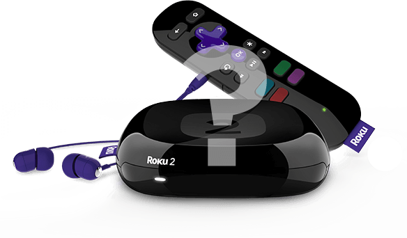 Roku 2 with headphones and remote