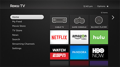 Features: Roku TV Home Screen
